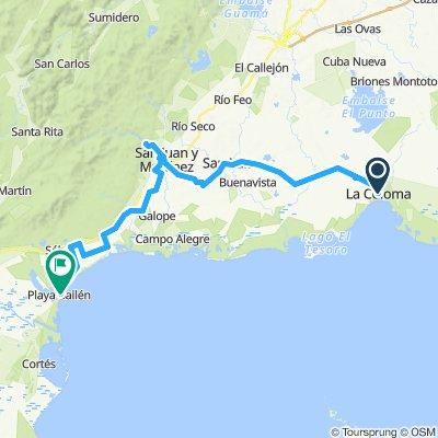 La Coloma über San Juan y Martinez nach Playa Bailen