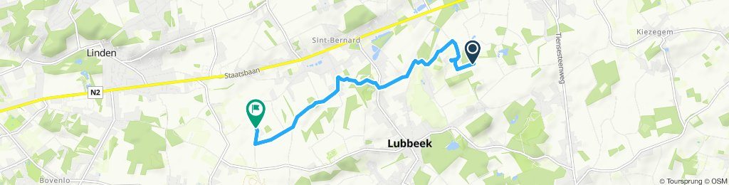 Relaxed route in Lubbeek