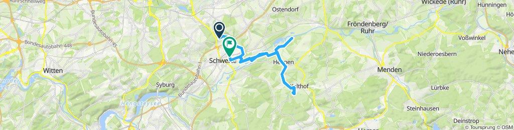 Route im Schneckentempo in Schwerte