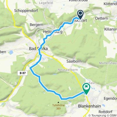 Langsame Fahrt in Blankenhain