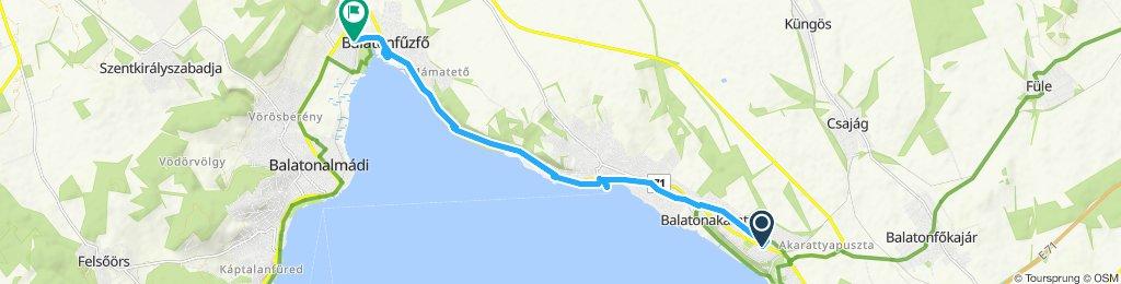 Snail-like route in Balatonkenese