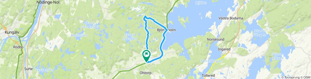 Snail-like route in Gråbo