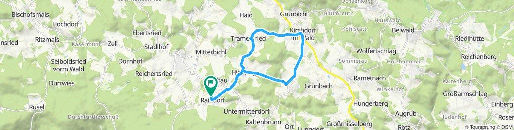 Langsame Fahrt in Kirchberg im Wald