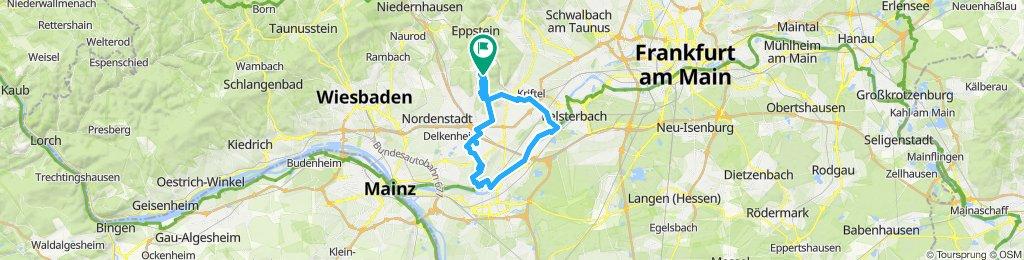 Langsame Fahrt in Hofheim am Taunus