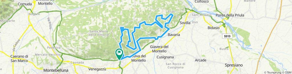 Giro MTB sul Montello