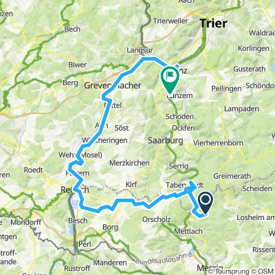 Saarhölzbach Remich Konz 72 km
