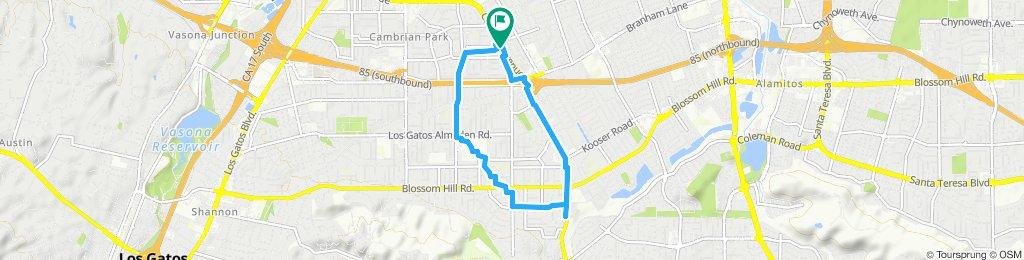 Snail-like route in San Jose