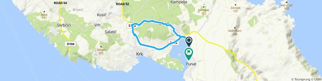 Route im Schneckentempo in Punat
