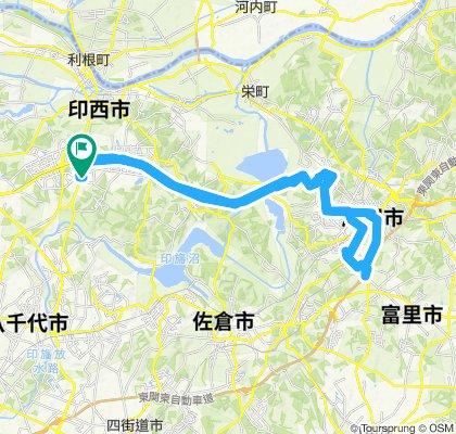 Slow ride in Inzai-Shi