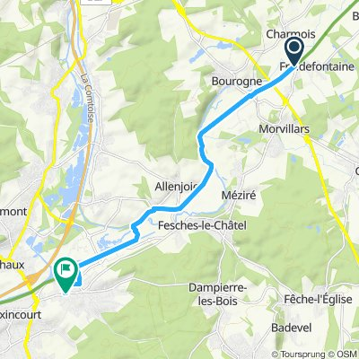 Itinéraire modéré en Etupes