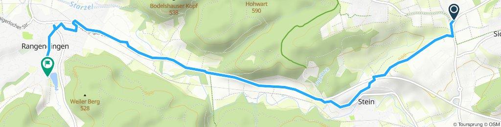 Langsame Fahrt in Hechingen