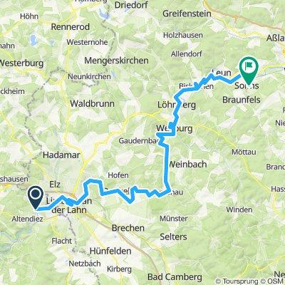 Diez - Solms (Lahntal Radweg)