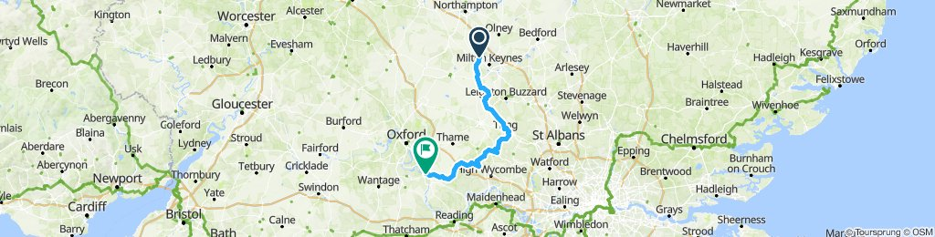 Wolverton to Dorchester , Via Chilterns