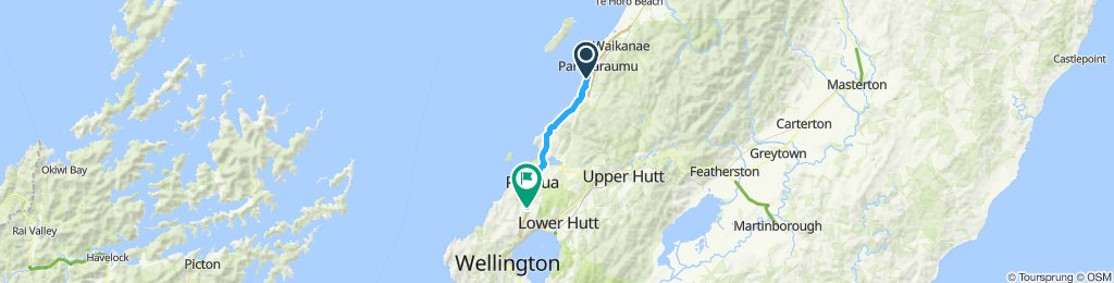 Raumati South to Takapu Road