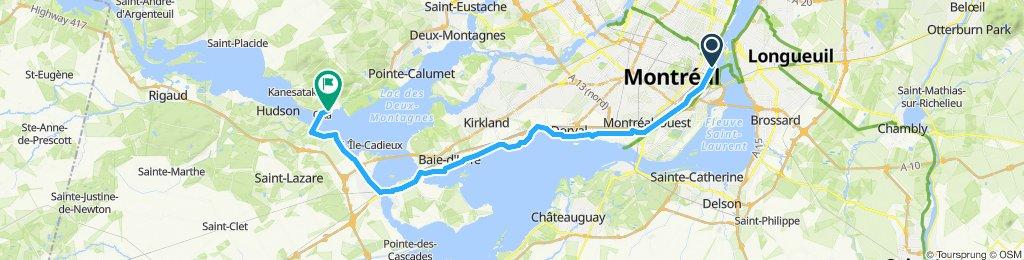 Montréal to Oka