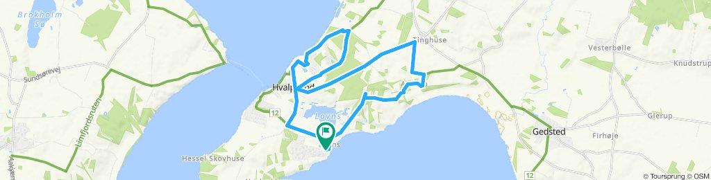 Snail-like route in Farsø