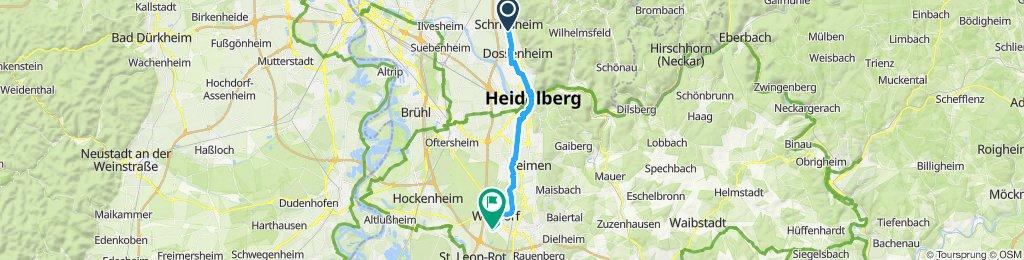 Langsame Fahrt in Walldorf