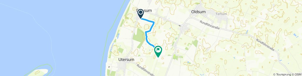 Einfache Fahrt in Oldsum