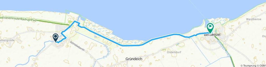 Route im Schneckentempo in Esens