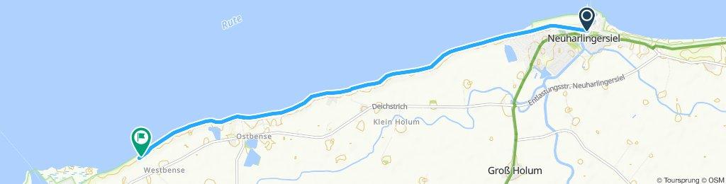 Gemütliche Route in Esens
