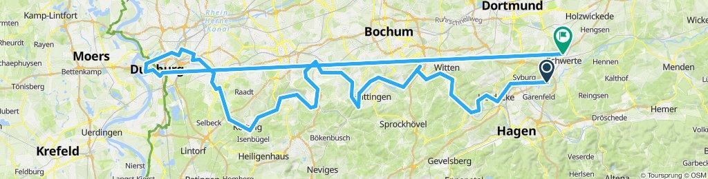 Moderate Route in Schwerte.       in.