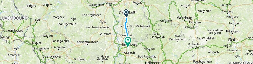 Darmstadt to Heidelberg