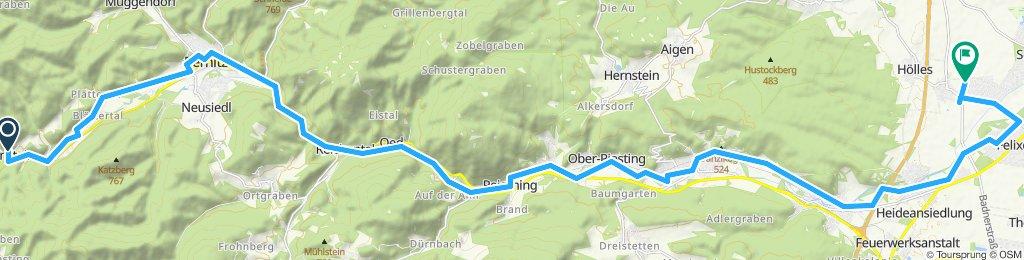 Einfache Fahrt in Matzendorf-Hölles