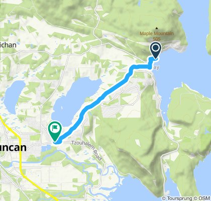Relaxed route in North Cowichan