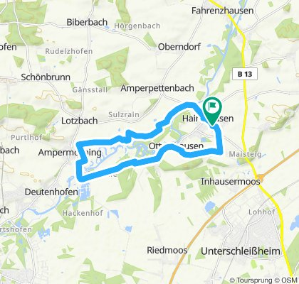 Moderate route in Haimhausen