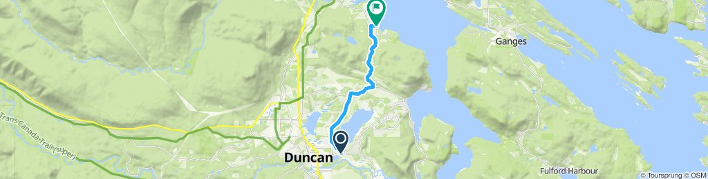 Easy ride in North Cowichan