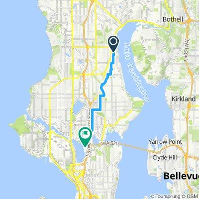 Snail-like route in Seattle