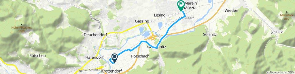 Route im Schneckentempo in Sankt Marein im Mürztal