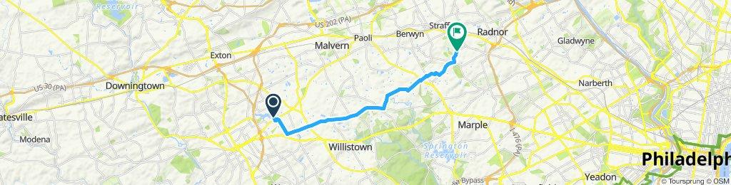 Snail-like route in Wayne