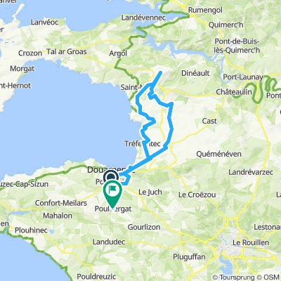 route Pouldergat - menez hom