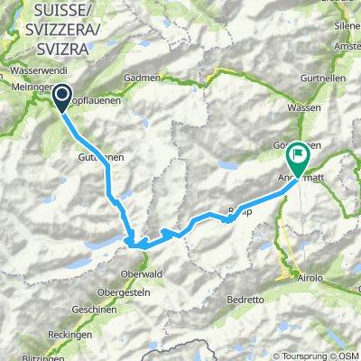 Innertkirchen to Andermatt