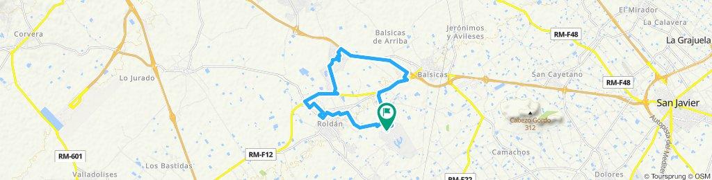 easy 18 km around Roldan