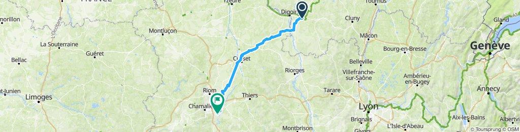 6a tappa→Paray Le Monial---Cournon D'Auvergne