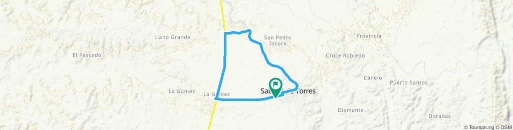Ruta lenta en Sabana De Torres.