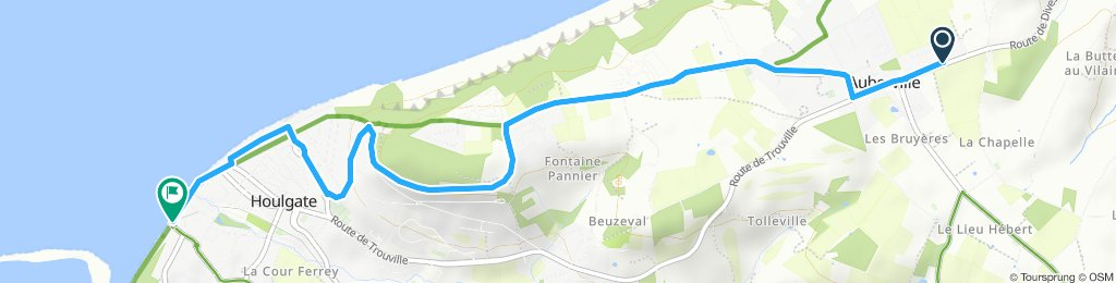 Itinéraire confortable en Houlgate