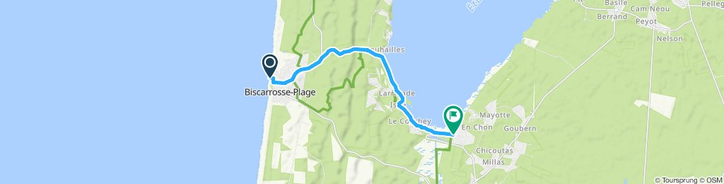 Itinéraire modéré en Biscarrosse
