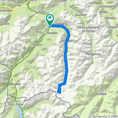 4) Kaunertal Gletscherstraße - 2750 m.