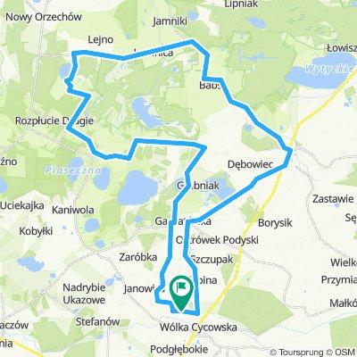 Dzień 2. 54km.kąpiel w j.Zagłębocze