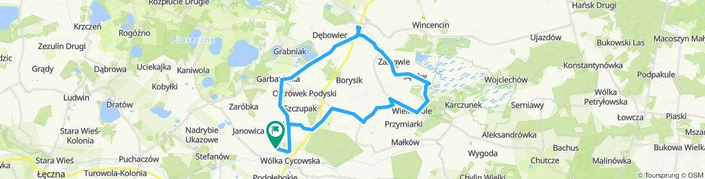 4 dzień W.Cycow.-Urszulin,Bagno Bubnów 37km