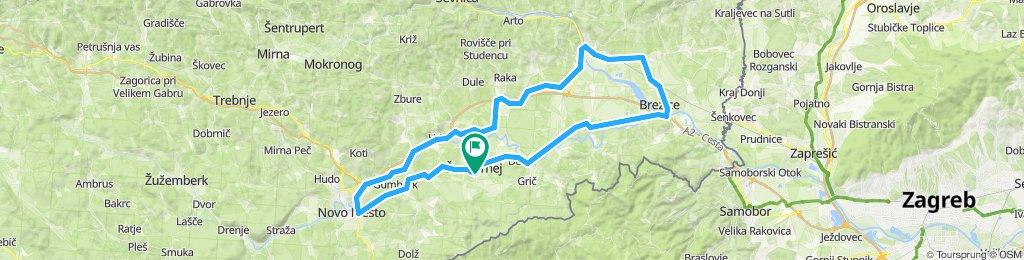 Moderate route in Šentjernej