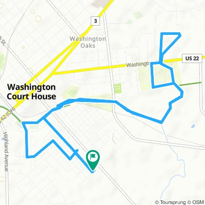 Snail-like route in Washington Court House