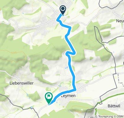Route im Schneckentempo in Leymen