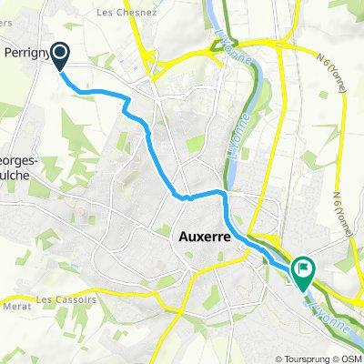 Paseo lento en Auxerre