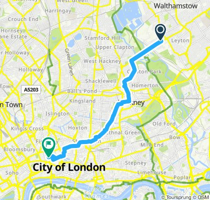 Moderate route in London