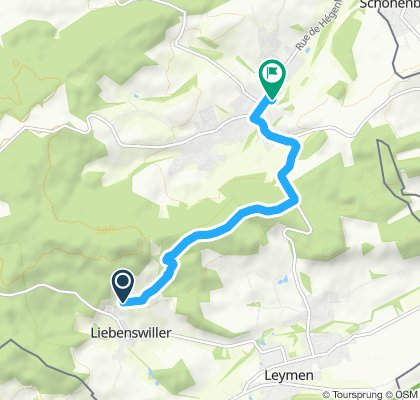 Gerade Fahrt in Hagenthal-le-Bas