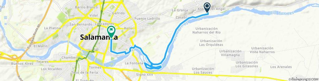 Langsame Fahrt in Cabrerizos